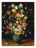 Flowers in a Blue Vase, about 1608 Kunstdrucke von Jan Brueghel the Elder