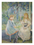 Two Girls at a Window, 1892 Giclee Print by Berthe Morisot