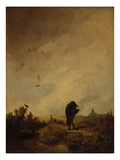 The Raven, 1840/45 Giclee Print by Carl Spitzweg