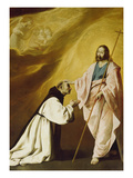 Christ Appearing to Brother Andrew Salmeron, 1639 Prints by Francisco de Zurbarán