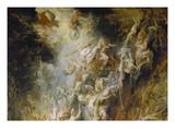 Hoellensturz Der Verdammten. Detail Oben Mitte Poster by Peter Paul Rubens