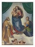 The Sistine Madonna, about 1513 Giclée-tryk af Raphael