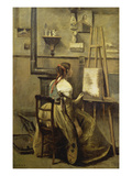 In the Studio of Corot Prints by Jean-Baptiste-Camille Corot