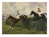 Golden Miller and Delaneige at the Grand National 1934 Giclee Print by Charles Simpson