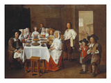 A Family Meal Giclee Print by Jean Michelin