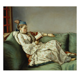 Maria Adelaide Reading Prints by Jean-Etienne Liotard