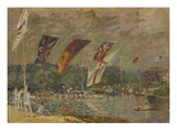 Regatta in Molesey Bei Hampton Court, 1874 Giclee Print by Alfred Sisley