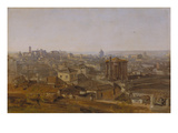 View from the Villa Malta in Rome onto the Capitol Prints by Johann Georg von Dillis