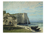 The Cliffs at Etretat after the Storm, 1870 Print by Gustave Courbet