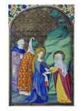 The Visitation. From: Heures De Louis De Savoie Giclee Print