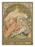 Poster Advertising the 'société Populaire Des Beaux-Arts', 1897 Posters by Alphonse Mucha
