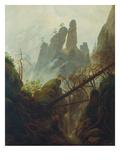 Caspar David Friedrich - Rocky Gorge, 1822/23 Digitálně vytištěná reprodukce