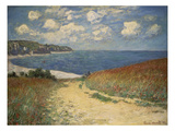 Path in the Wheat at Pourville, 1882 Giclee Print by Claude Monet