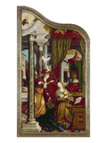 Wettenhausener Altar. Inner Left Panel: Annunciation, 1523 Giclee Print by Martin Schaffner