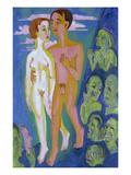 Das Paar Vor Den Menschen Giclee Print by Ernst Ludwig Kirchner