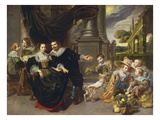 Portrait of a Family Giclee Print by  Flemish