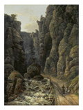 Canyon in Saxon Switzerland , 1820 Giclee Print by Johan Christian Clausen Dahl