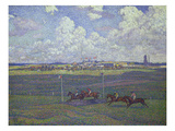 Horse Racing at Boulogne-Sur-Mer, 1900 Posters av Theo van Rysselberghe