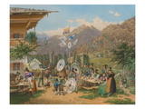 Alpine Marksmen Festival. from the King-Ludwig-Album Giclee Print by Lorenzo Il Quaglio