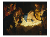 Adoration of the Shepherds, 1622 Giclee Print by Gerrit van Honthorst