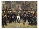 Napoleon I Bidding Farewell toImperial Guard atChateau De Fontainebleau, 20th April 1814 Kunstdrucke von Emile Jean Horace Vernet