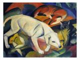 Three Animals (A Dog, a Fox, and a Cat), 1912 Reproduction procédé giclée par Franz Marc