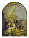 Spielende Kinder Vor Einer Herkulesgruppe, 1687 Giclee Print by Adriaan van der Werff