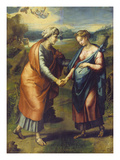 The Visitation Reproduction procédé giclée par Raphael