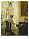 Am Wohnzimmerfenster Posters by Carl Holsoe