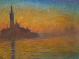 Venice by Twilight, 1908 Giclee Print by Claude Monet