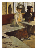 In a Cafe, or the Absinthe, 1875/76 Giclee Print by Edgar Degas