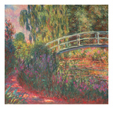 The Japanese Bridge in the Garden of Giverney, 1900 Giclee Print by Claude Monet