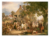 An Auction in a Village, 1853 Giclee Print by Edwin Cockburn