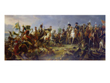 Napoleon Bonaparte at the Battle of Austerlitz Giclée-Druck von Francois Gerard
