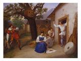 Der Besuch in Der Muehle Posters by Ludwig Ferdinand Schnorr von Carolsfeld