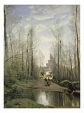 Bei Der Kirche Von Marissel, 1867 Posters by Jean-Baptiste-Camille Corot