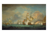 The Battle of Trafalgar, 21st October 1805. Painted 1806 Giclee Print by Thomas Whitcombe