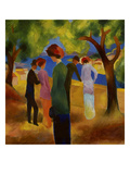 Woman in a Green Jacket, 1913 Giclee Print by August Macke