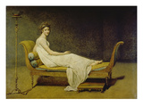 Portrait of Madame Récamier, 1800 Gicléetryck av Jacques-Louis David