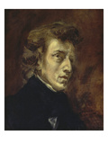 Portrait of Frédéric Chopin, 1838 Poster by Eugène Delacroix