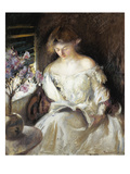 Girl Reading, 1902 Reproduction procédé giclée par Edmund Charles Tarbell