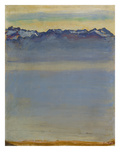 Lake Geneva with Savoyer Alps, 1907 Gicleetryck av Ferdinand Hodler