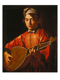 The Lute Player Giclée-tryk af Caravaggio