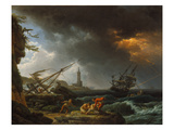 Storm at Sea Giclee Print by Claude Joseph Vernet