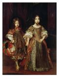 Erbprinz Max Emanuel Ii Und Maria Anna Von Bayern Als Kinder Giclee Print by Sebastiano Bombelli