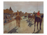 The Parade, or Race Horses in Front of the Stands, about 1866/68 Giclee Print by Edgar Degas