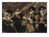 Feast for Officers of the St. George Riflemen Guild in Haarlem, 1627 Giclée-Druck von Frans Hals