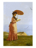Lady with Parasol Reading, Isle of Wight (Emily Prinsep) Prints by Valentine Cameron Prinsep