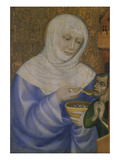 St. Elizabeth Feeding Starving Man, about 1365 Giclee Print by  Master Theodorus