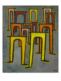 Revolution of the Viaduct, 1937 Print by Paul Klee